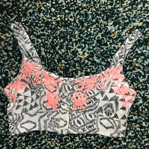 Sexy Embroidered Crop Top
